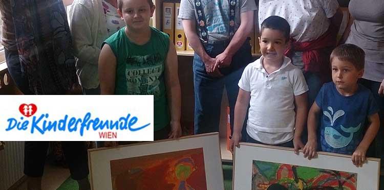 Bildübergabe 2014 Kreativkurs Kindergarten Wiener Kinderfreunde